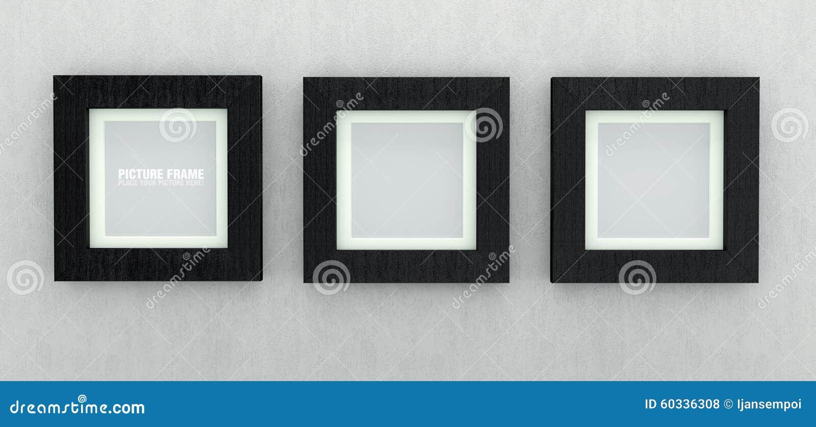 Czarne drewniane obrazek ramy