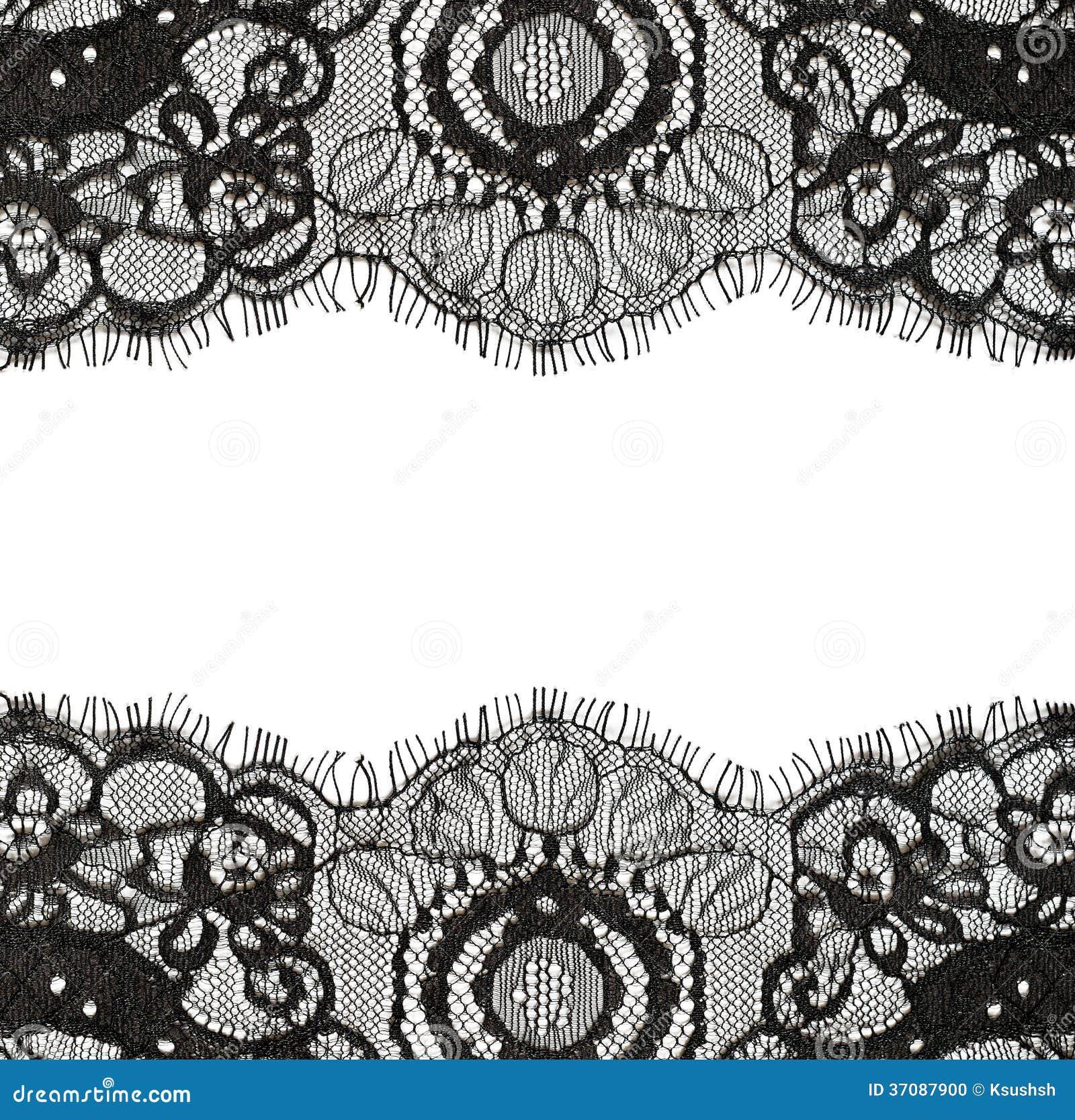 Download Czarne koronek krawędzie zdjęcie stock. Obraz złożonej z łata - 37087900
