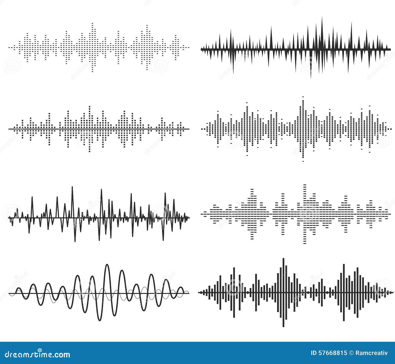 Czarne muzyczne rozsądne fala Audio technologia