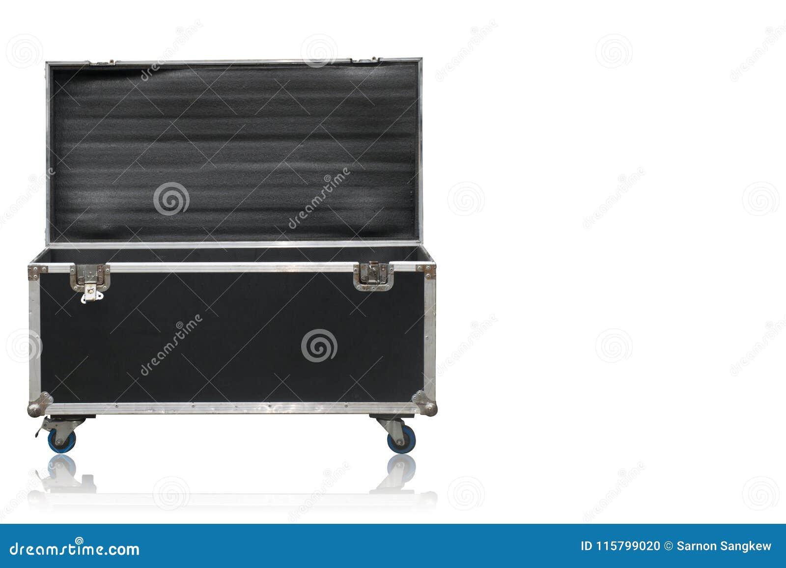 Czarnej herbaty pewna klatka piersiowa z aluminiowymi narożnikowymi strażnikami i czernią whee