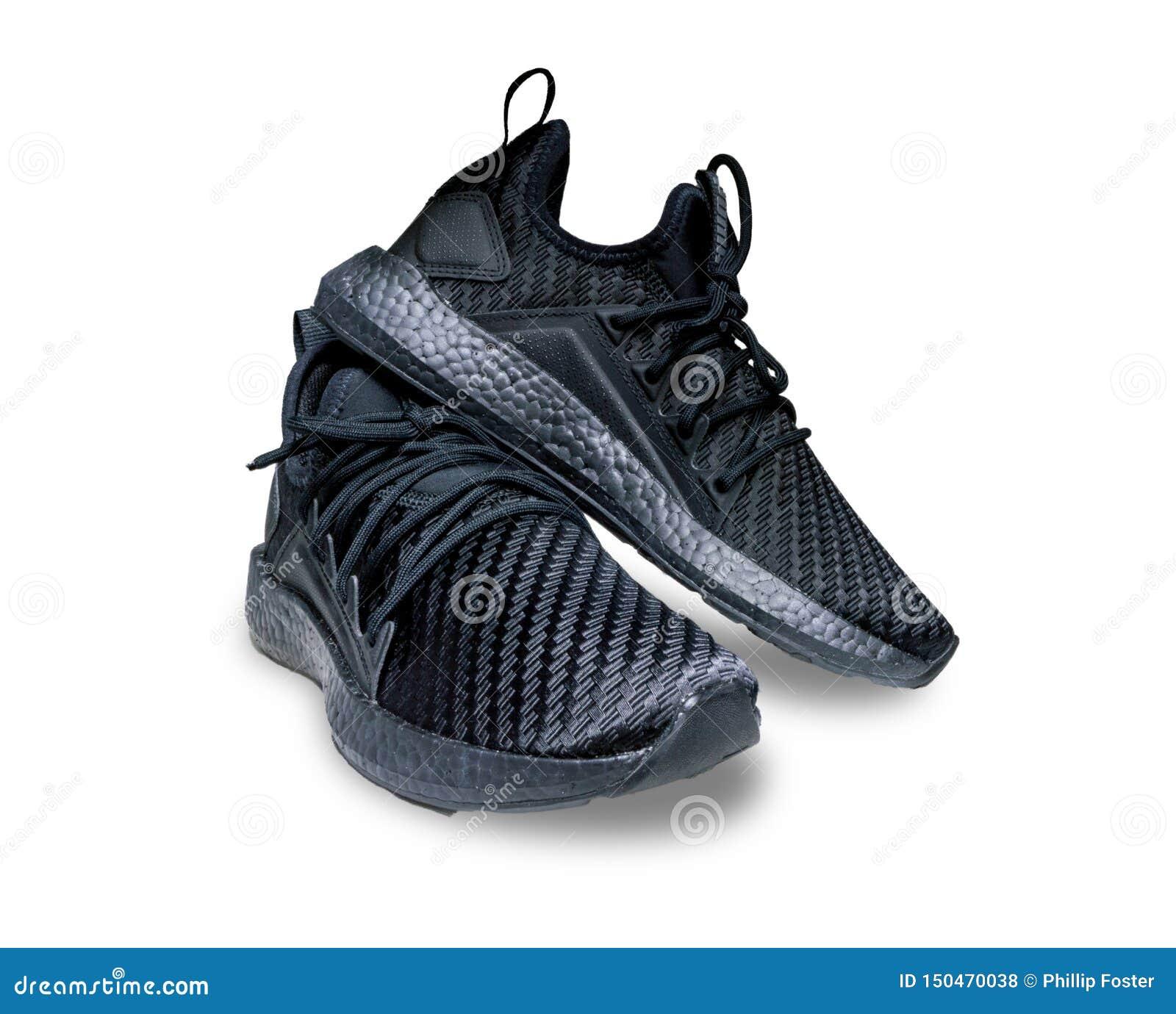 Czarni Sportowi buty Pracowniani