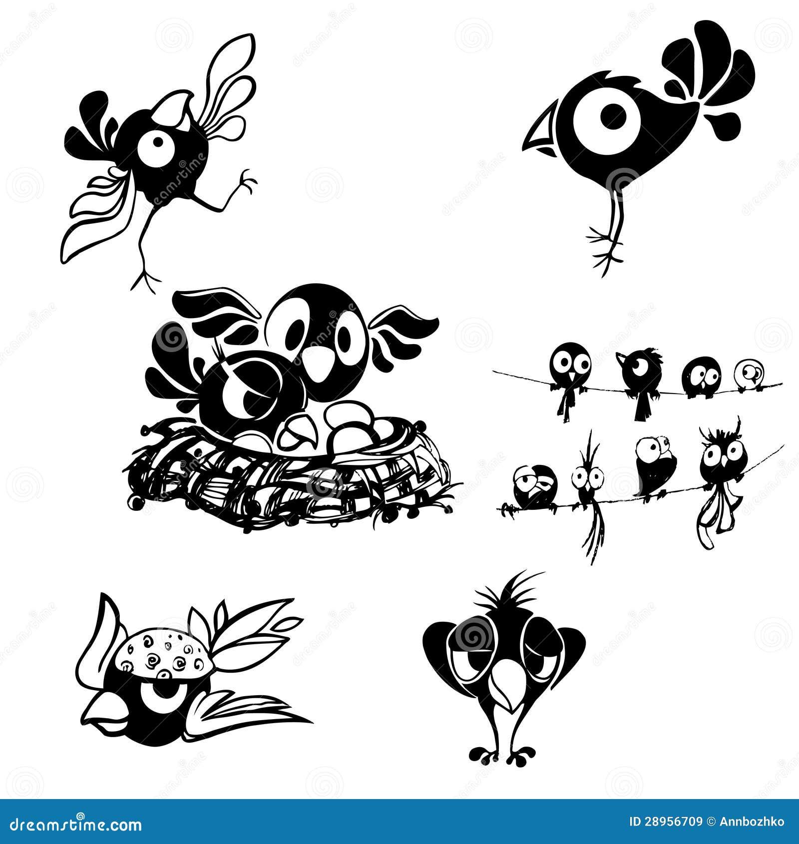 Czarno biały dekoracyjny ptak