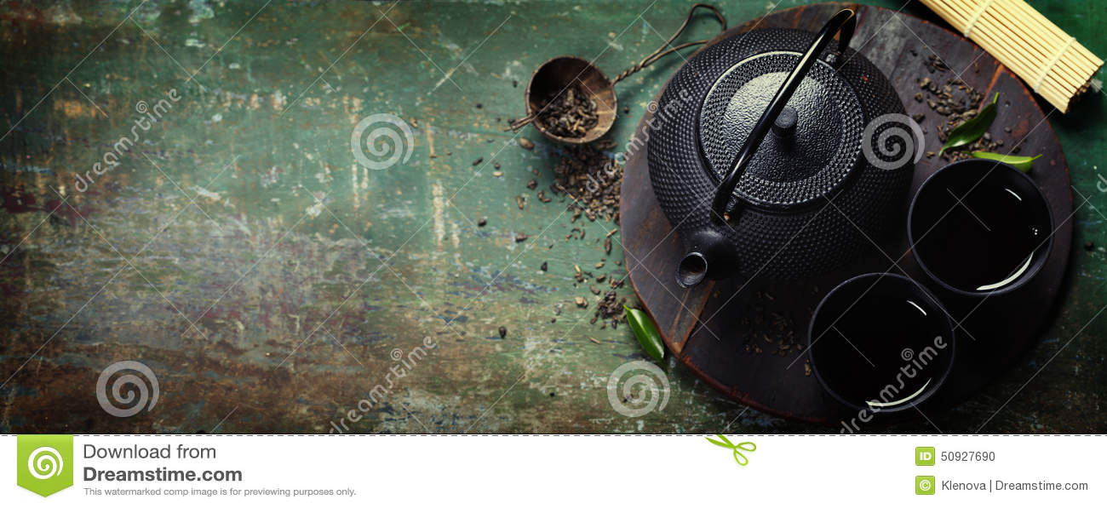 Czarny żelazny azjatykci herbata set