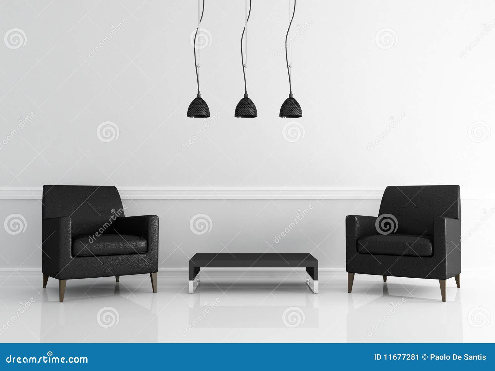 Czarny żywy minimalny izbowy biel