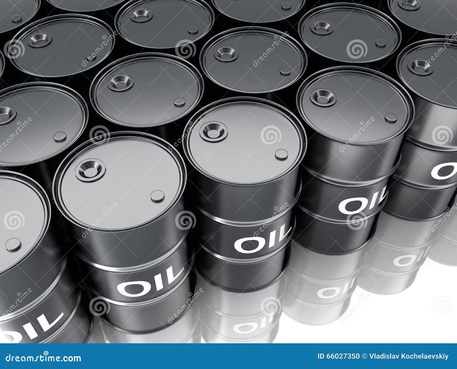 Czarny baryłka olej