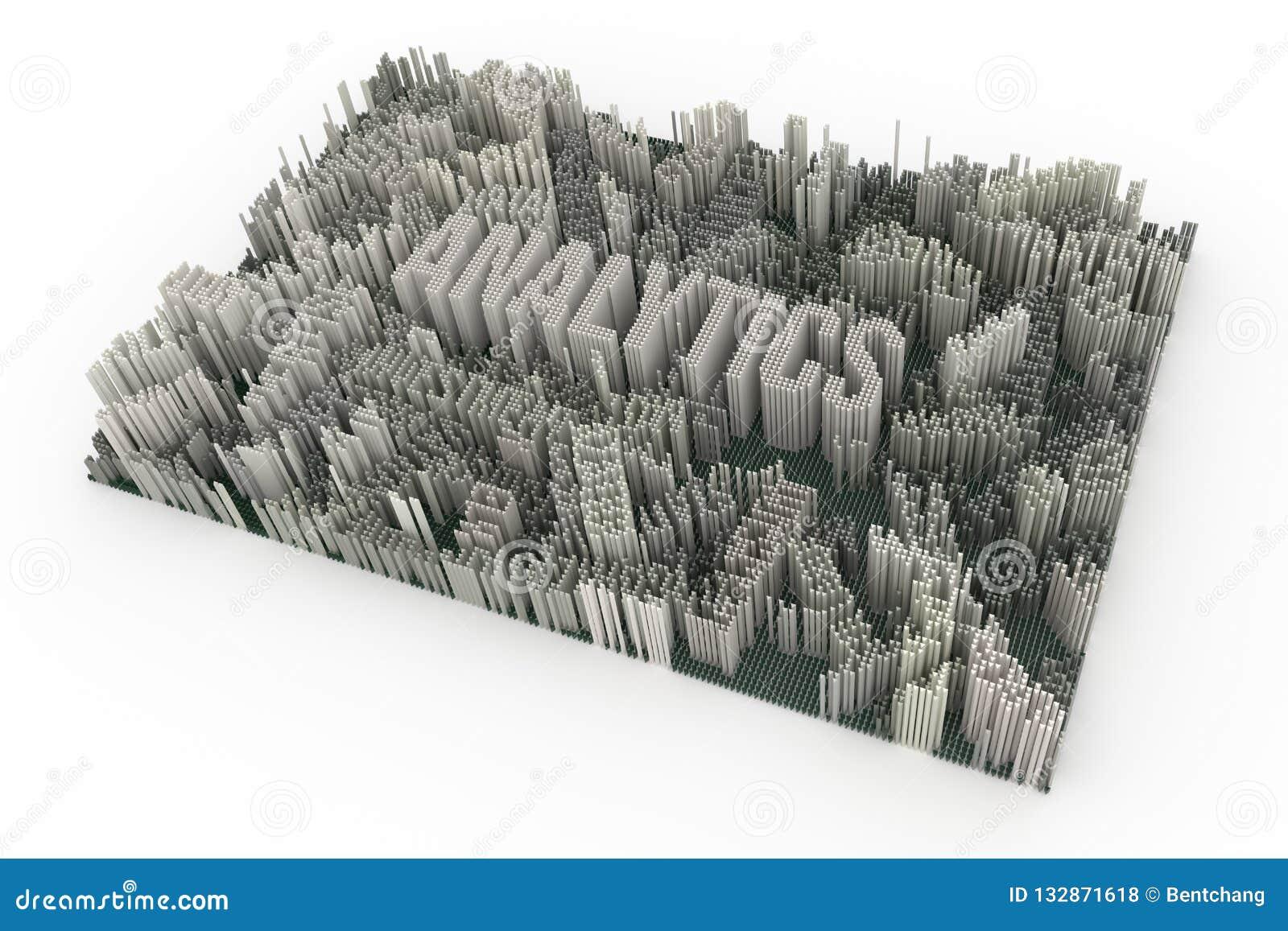 Czarny & biały B&W 3D rendering Tło kształta abstrakcjonistyczni compos