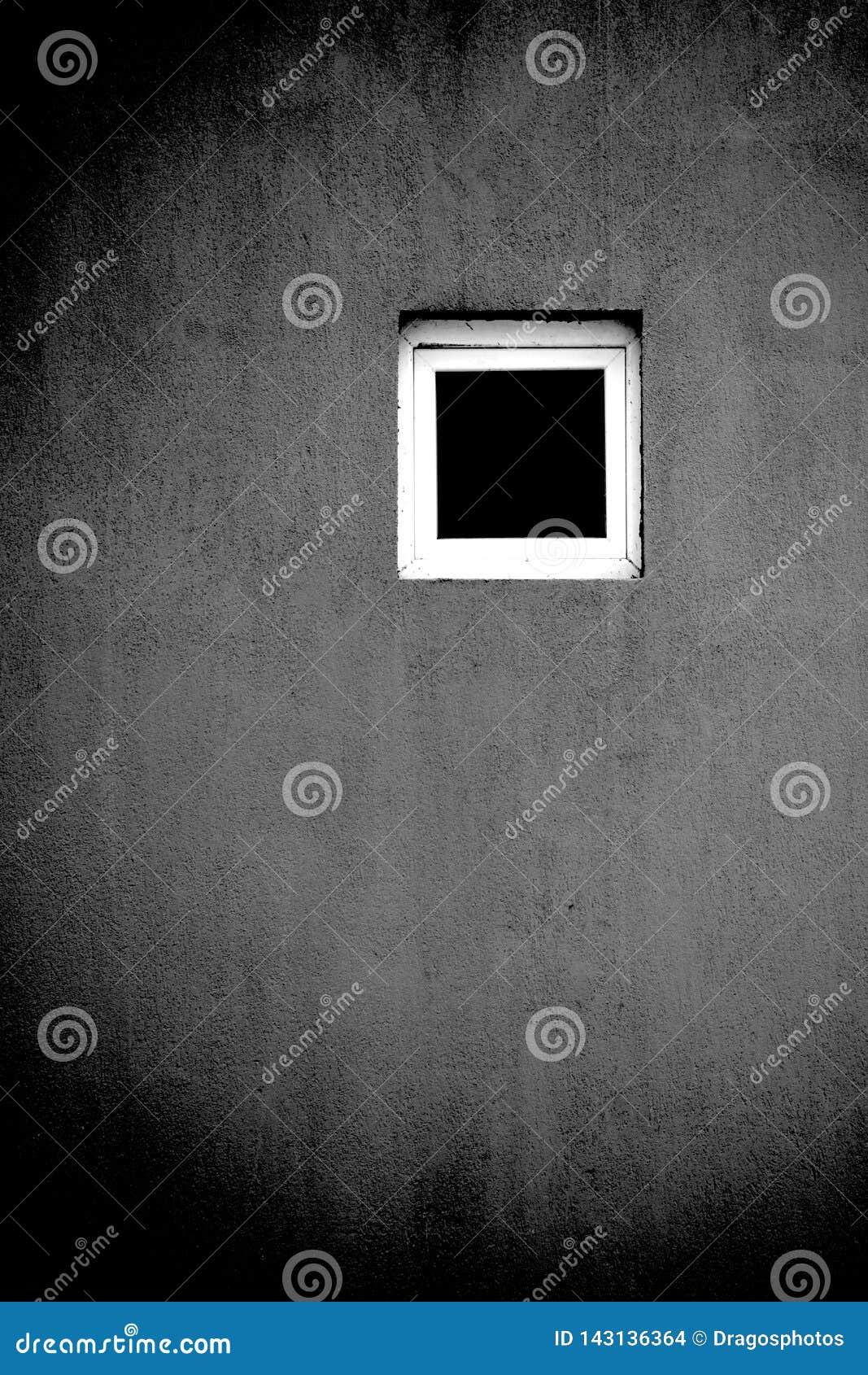 Czarny biały nadokienny artystyczny pojęcie Solo pojedyncza samotność