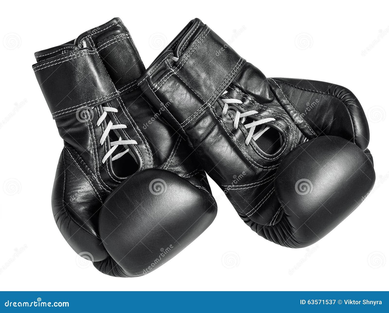 Czarny bokserskie rękawiczki