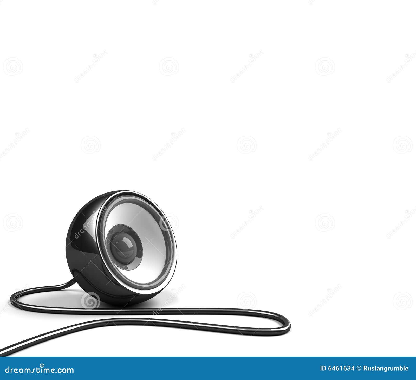 Czarny cable mówcą.
