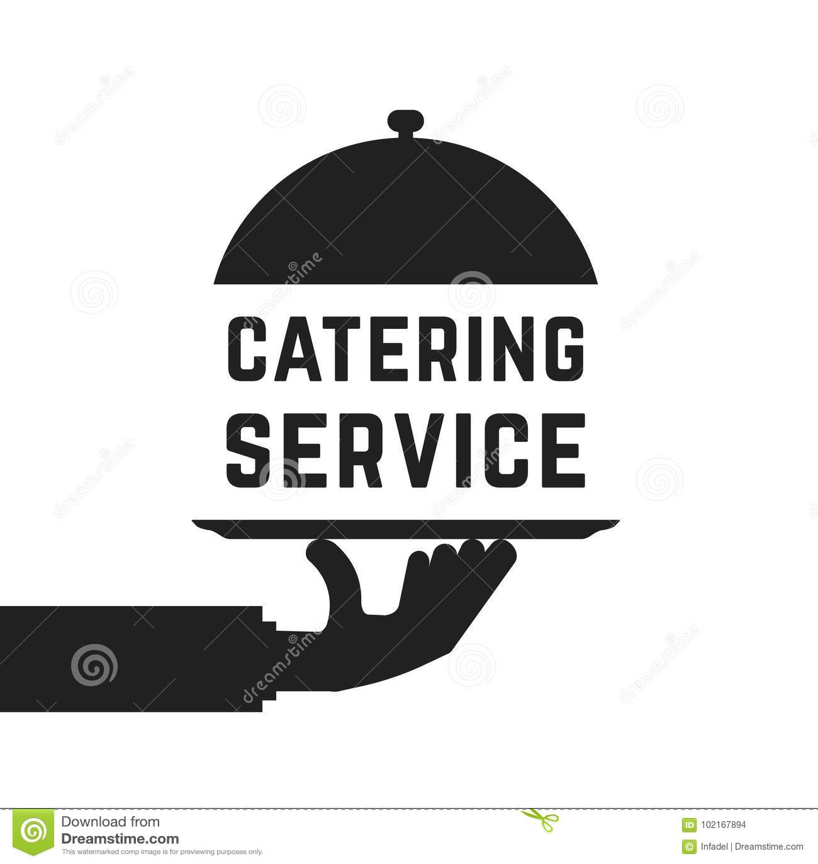 Czarny catering usługa emblemat