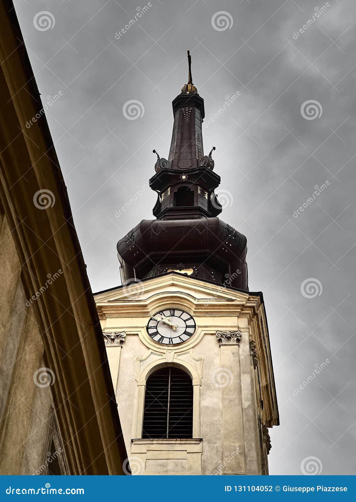 Czarny dzwonkowy wierza w Wiedeń