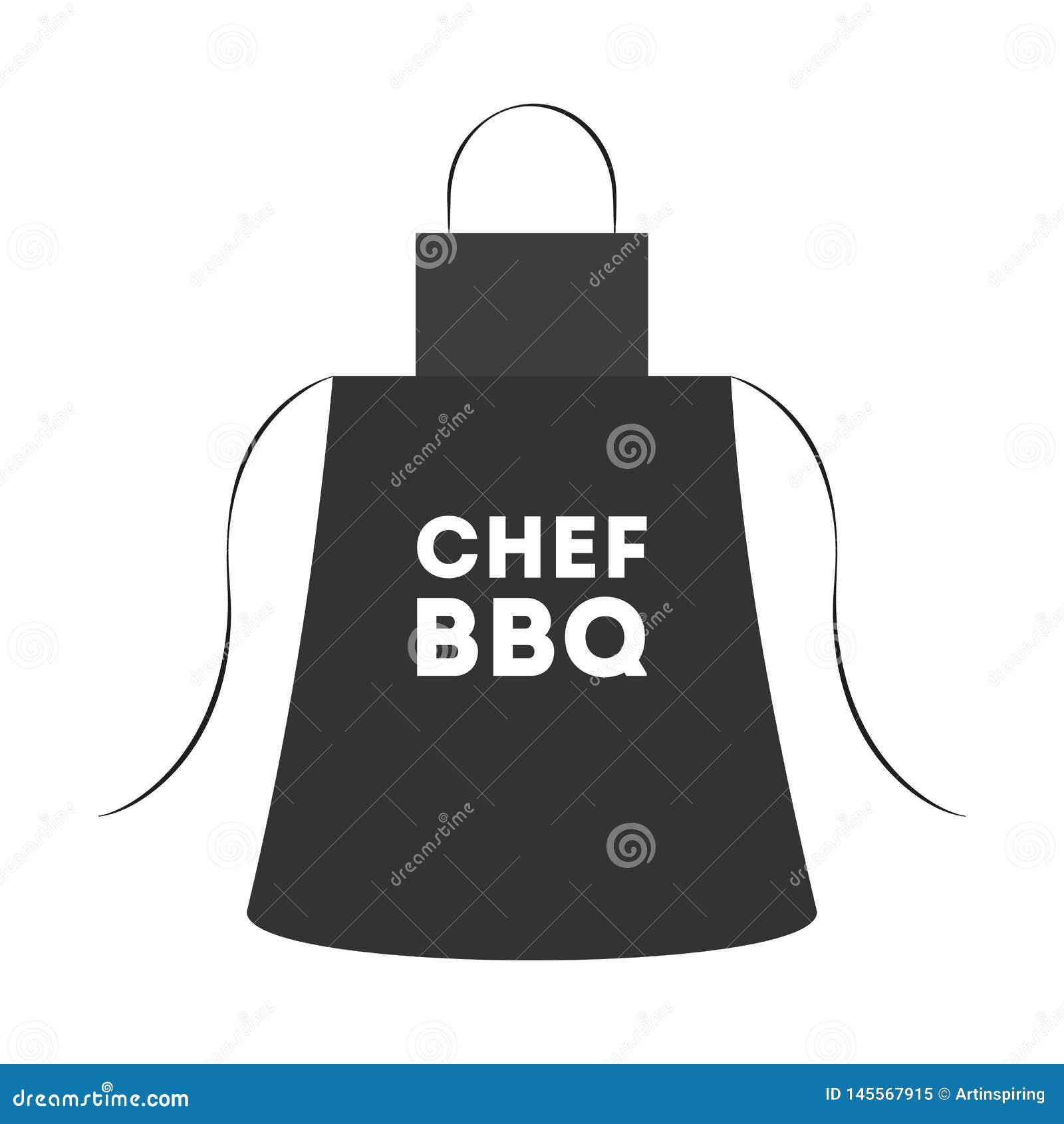 Czarny fartuch dla grilla robić Pomysł BBQ kucharstwo