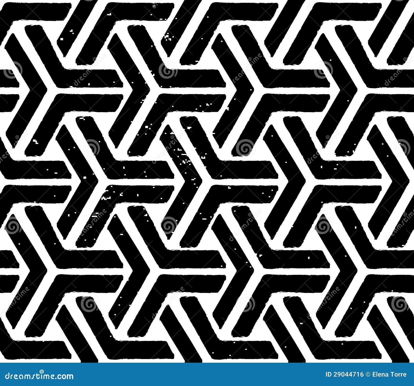 Czarny geometryczny bezszwowy wzór