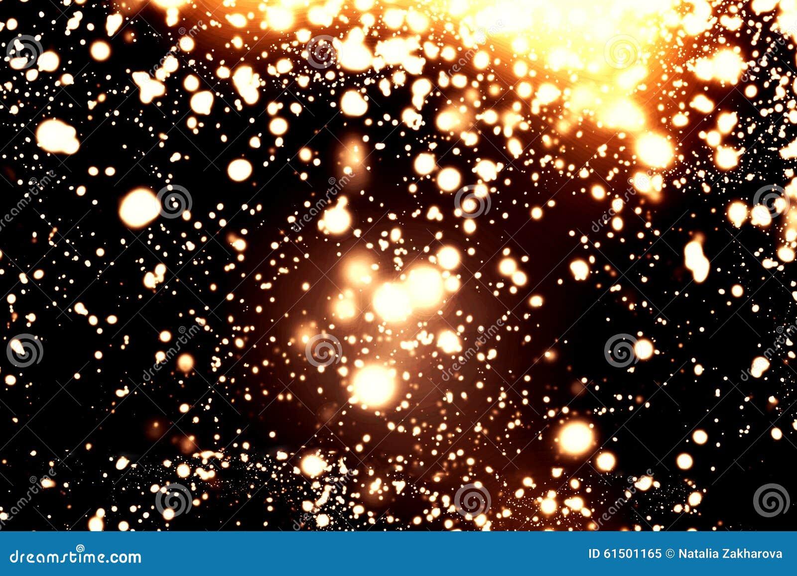 Czarny I Biały abstraktów światła - Błyskać Bożenarodzeniowy defocused