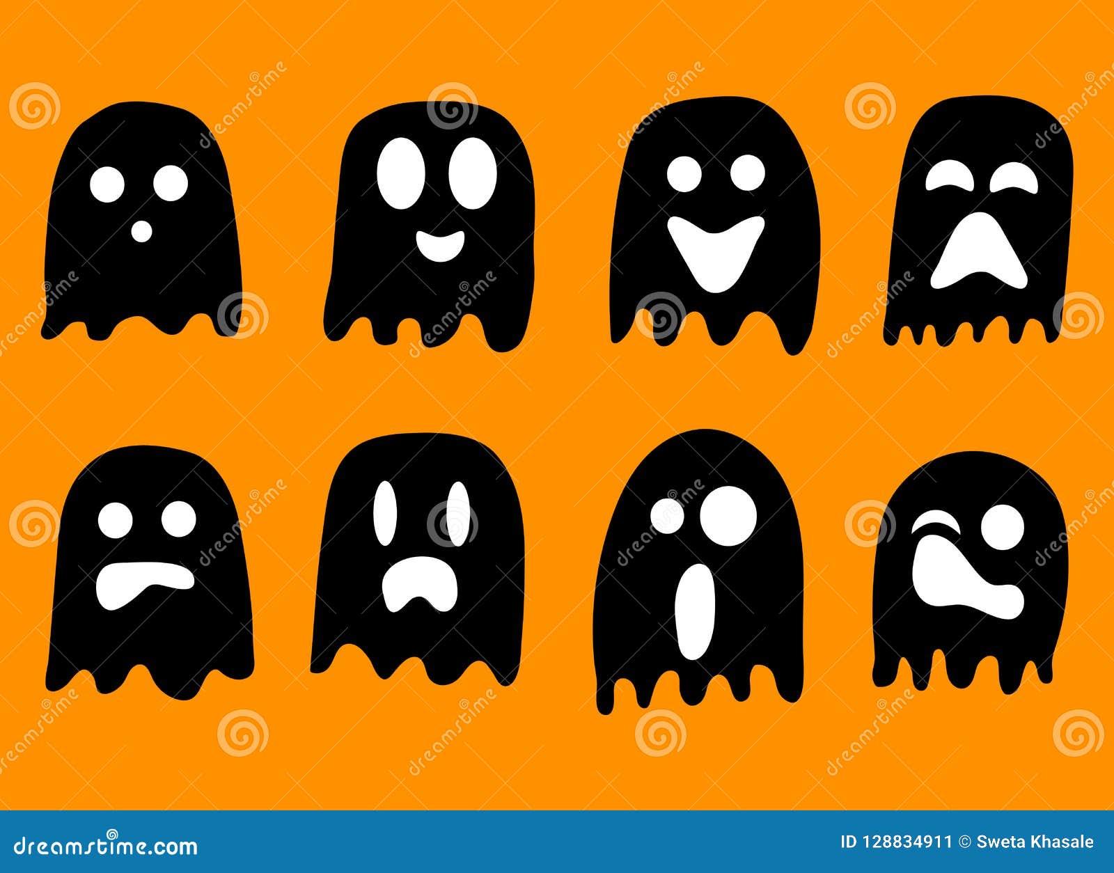 2018 Czarny I Biały duchów dla Halloweenowego świętowania