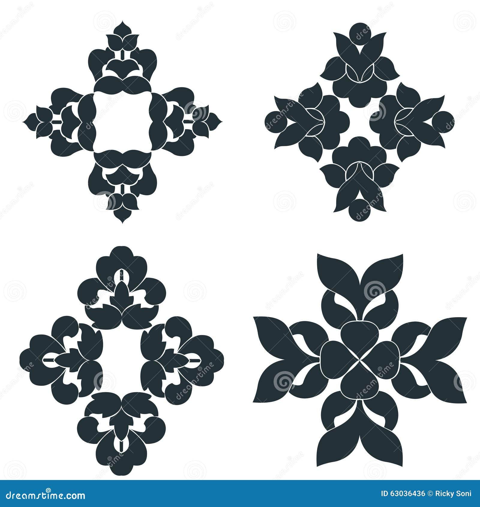 Czarny i biały elementy