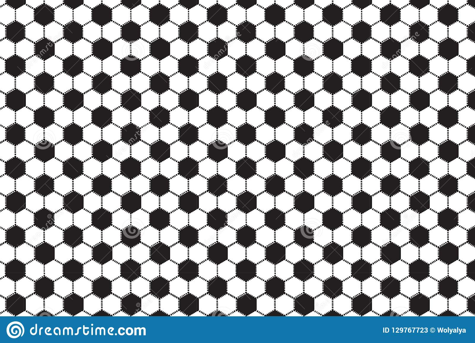 Czarny i biały heksagonalny wzór