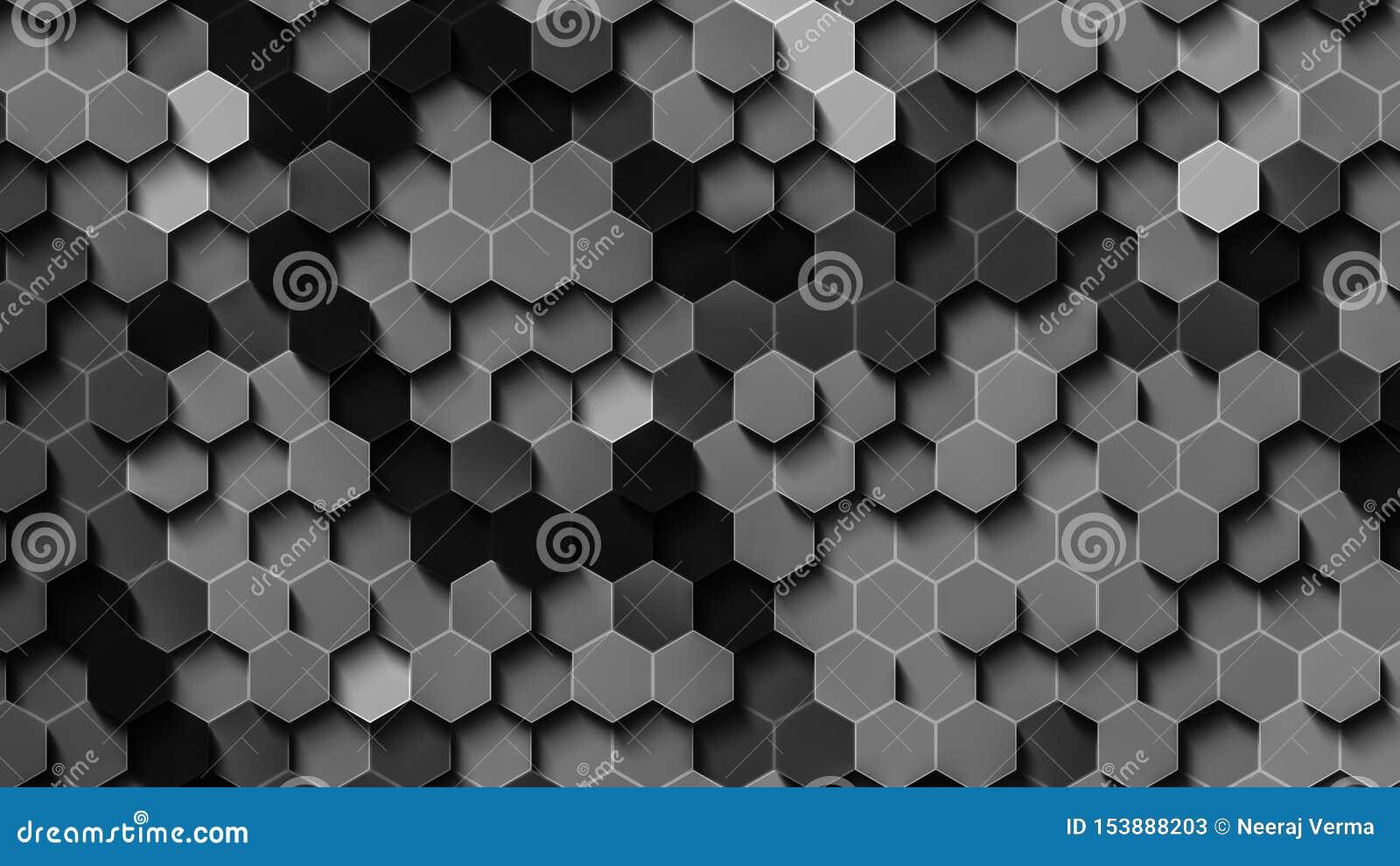 Czarny i biały hex tapeta