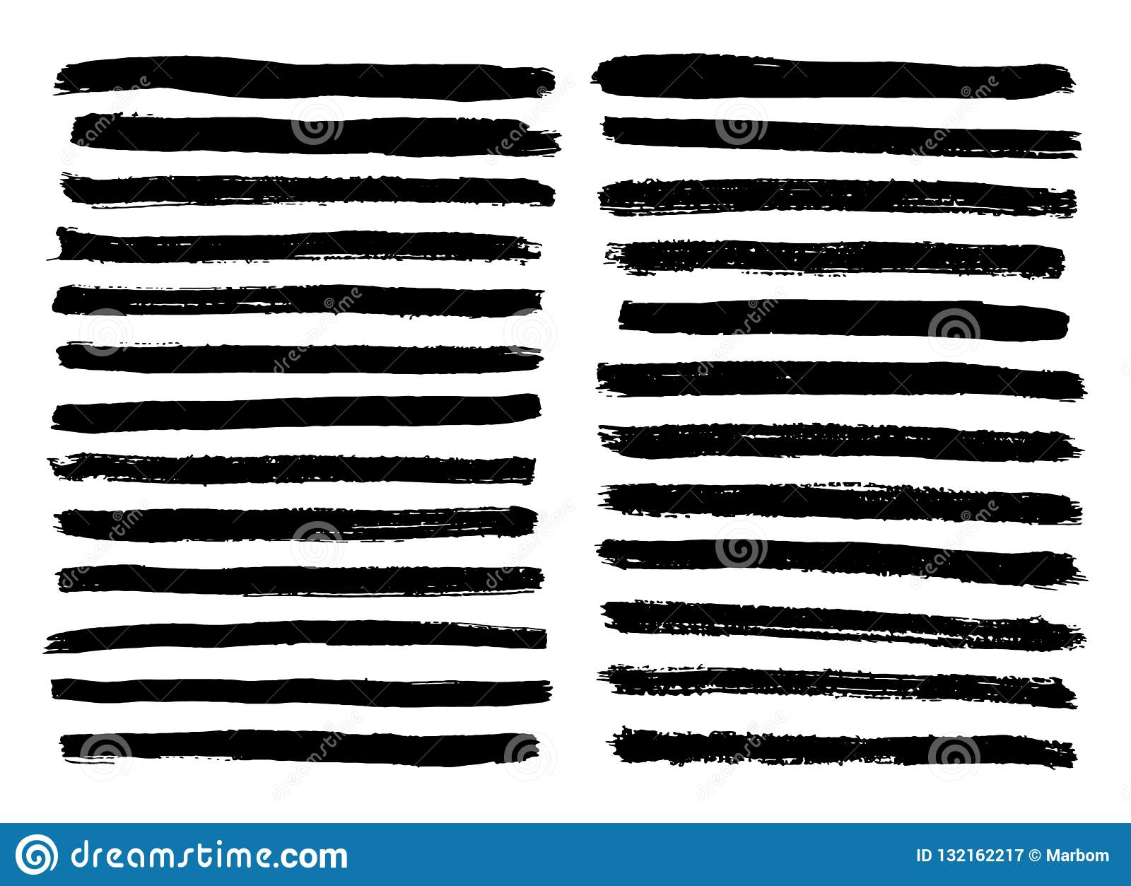 Czarny i biały lampasy ustawiają odosobnionego na białym tło wektorze