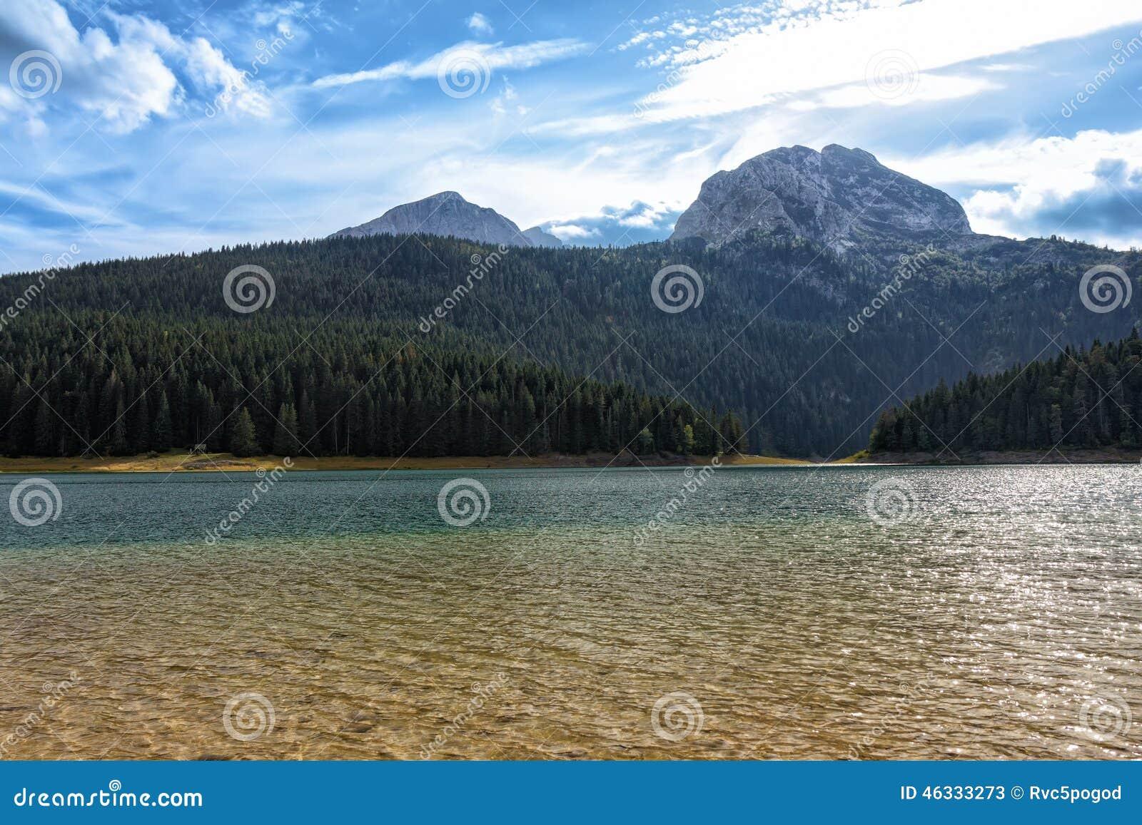 Czarny jezioro, północny Montenegro (Crno jezero)