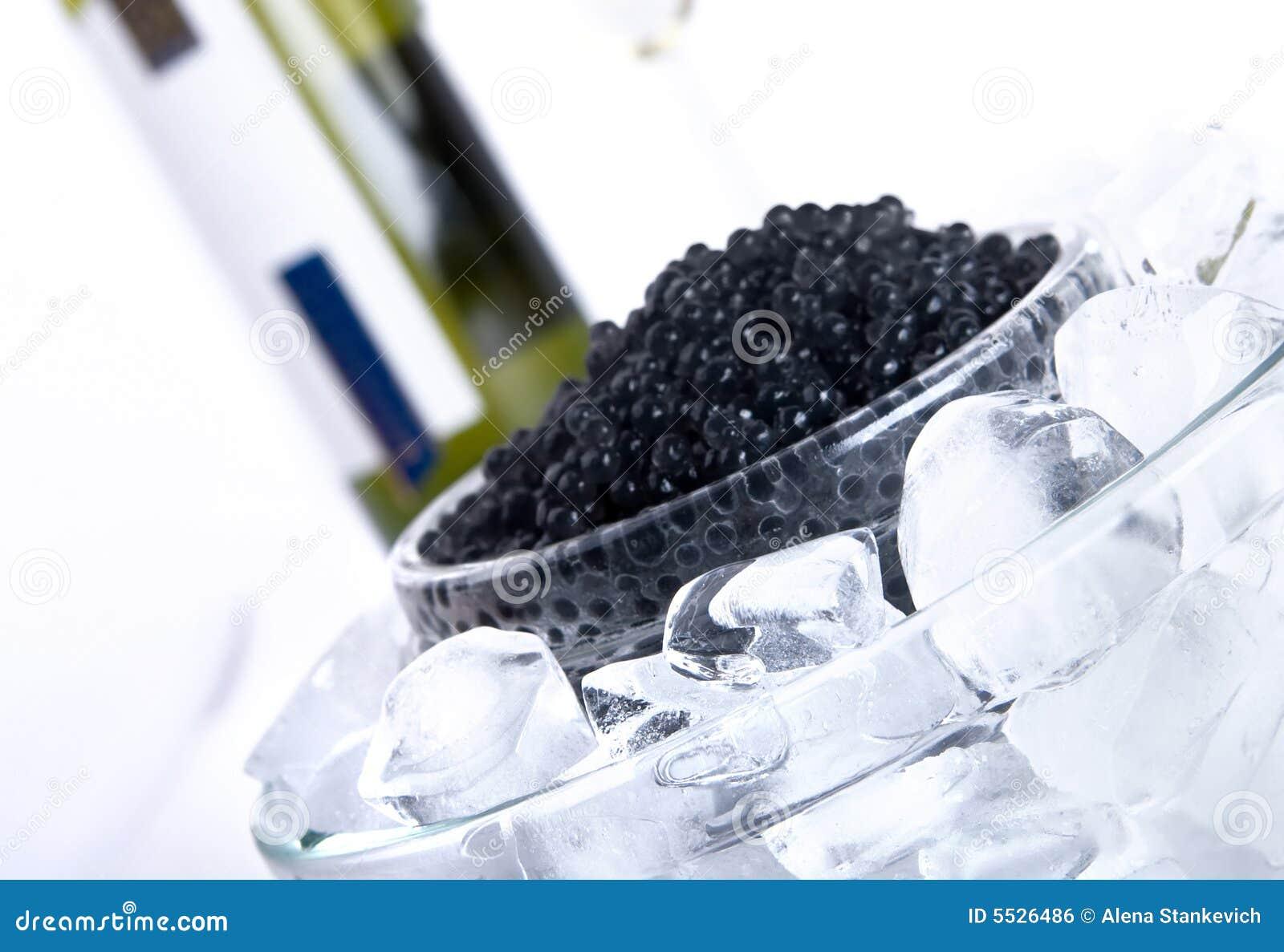 Czarny kawior wino