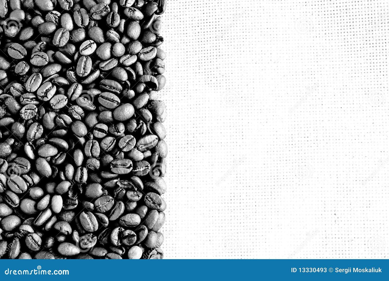 Czarny kawy wizerunku biel