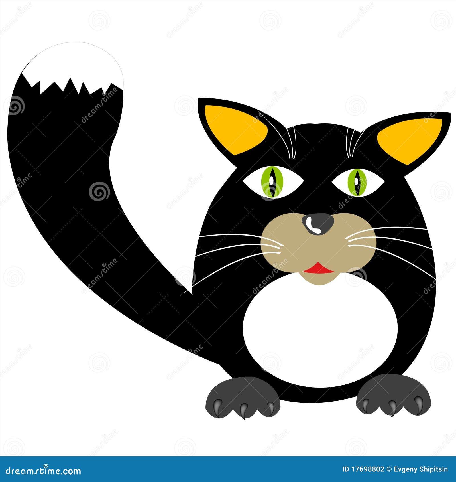 Czarny kota ilustracja