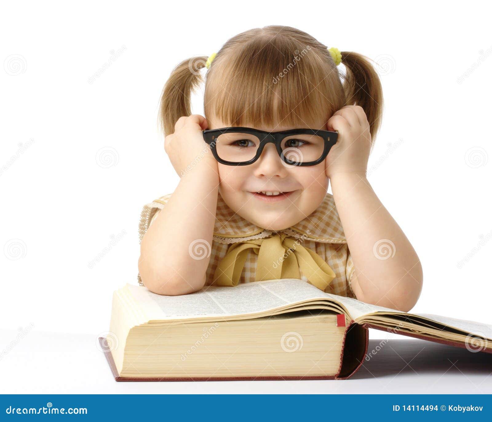 Czarny książki dziewczyny szkieł szczęśliwy mały target1594_0_