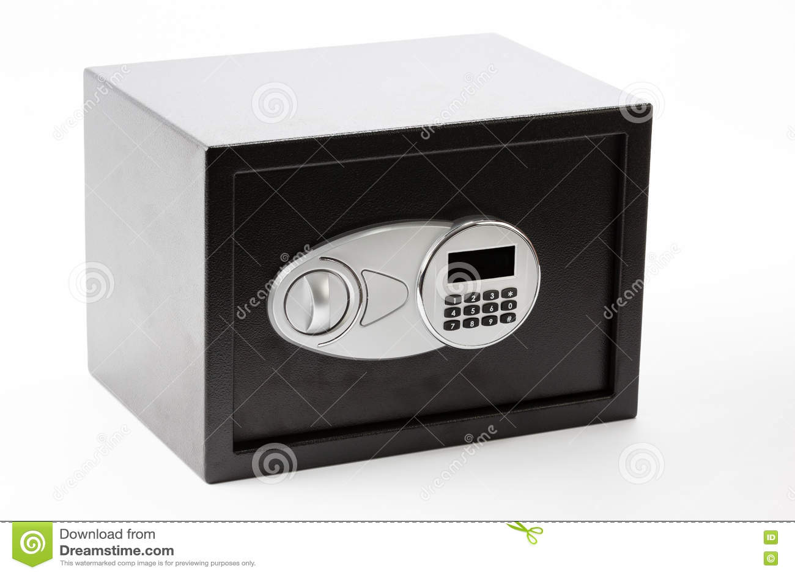 Czarny metal skrytki pudełko z numeryczną klawiaturą blokował system