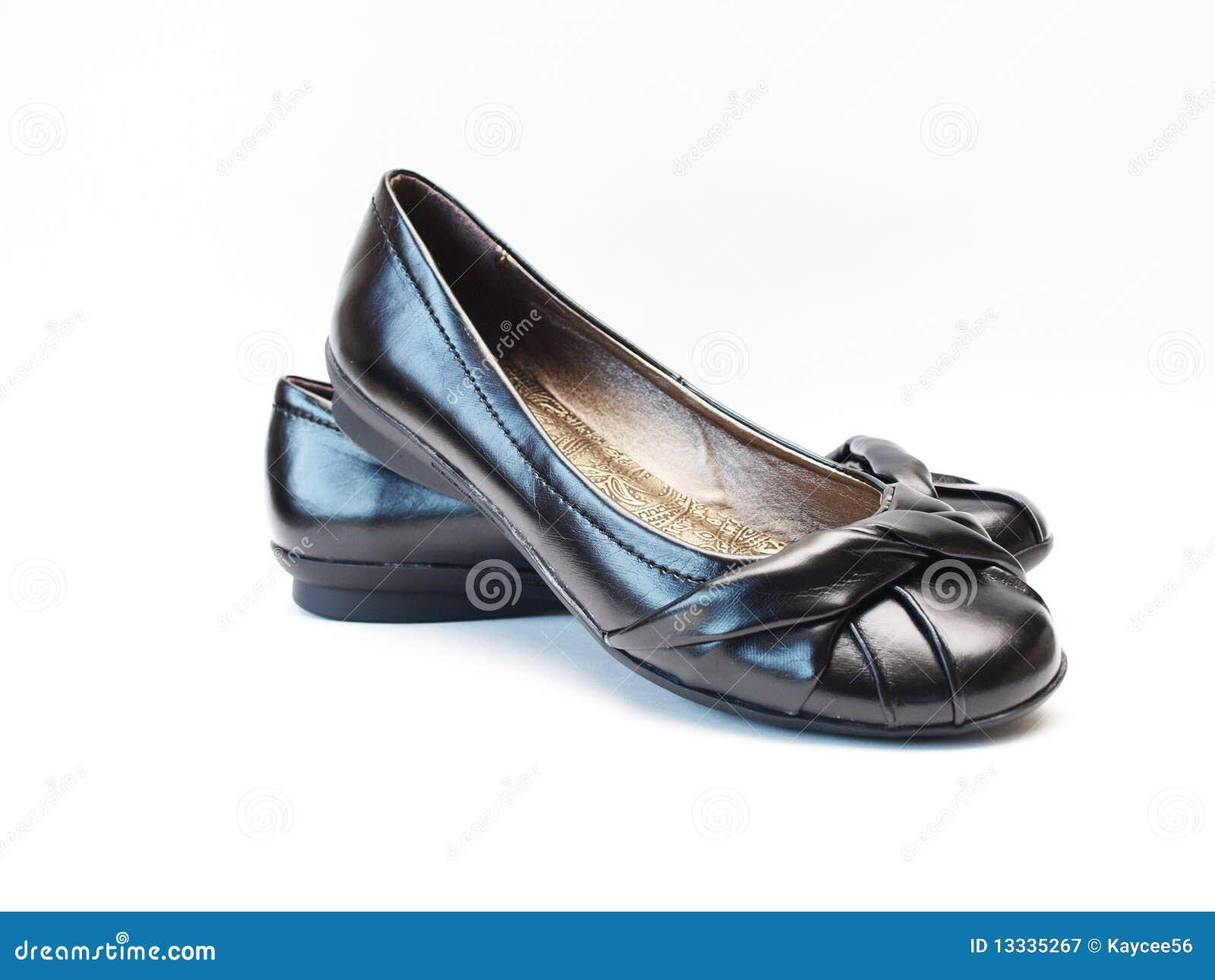 Czarny płascy buty