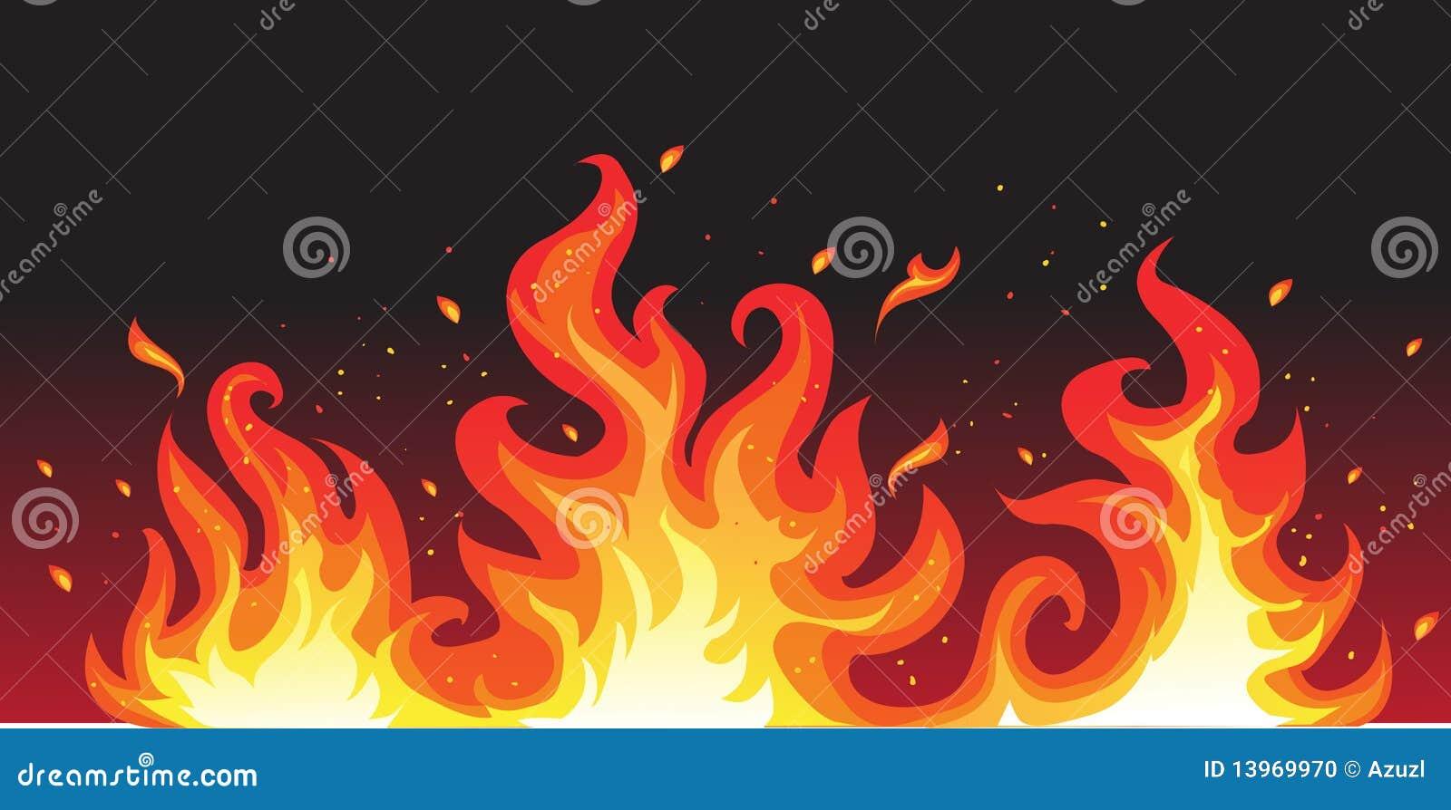 Czarny pożarniczy gorący