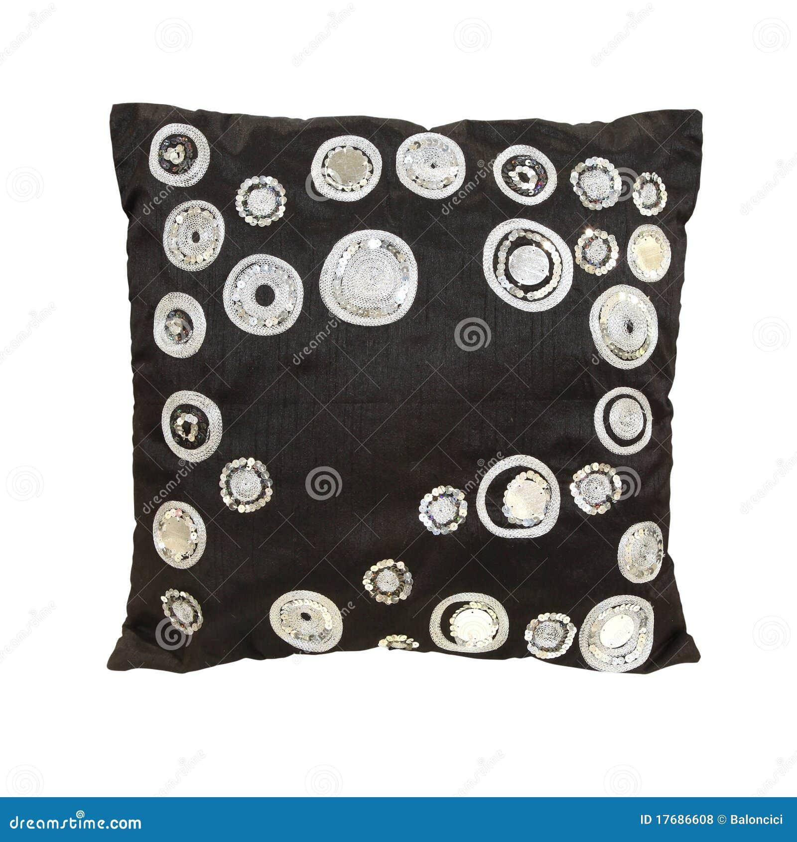 Czarny poduszka