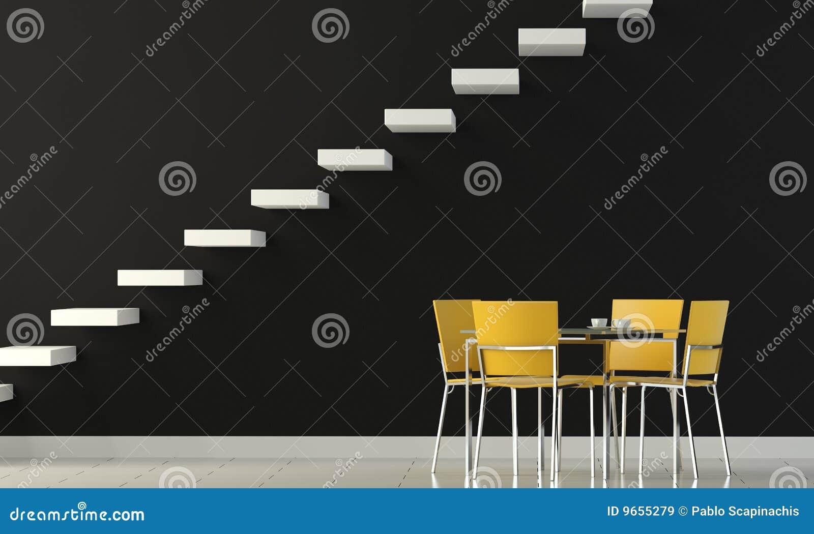 Czarny projekta wewnętrzna ściana