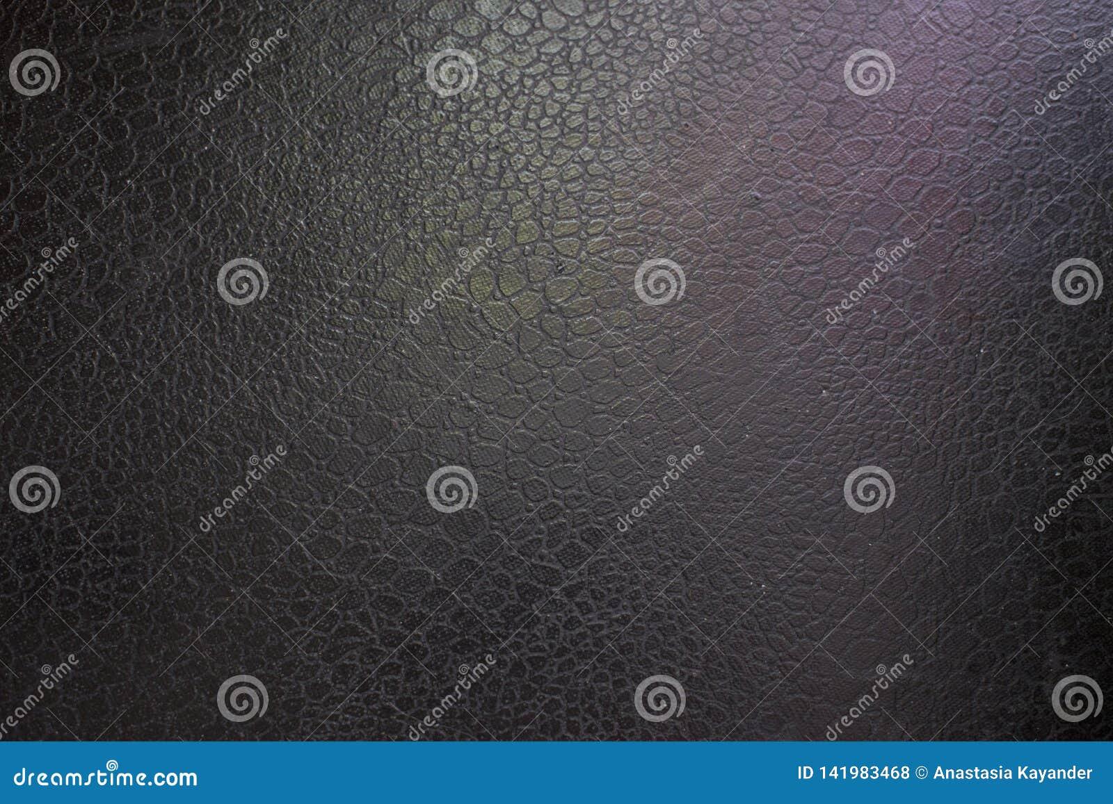 Czarny rzemienny tło z menchii i zieleni główną atrakcją