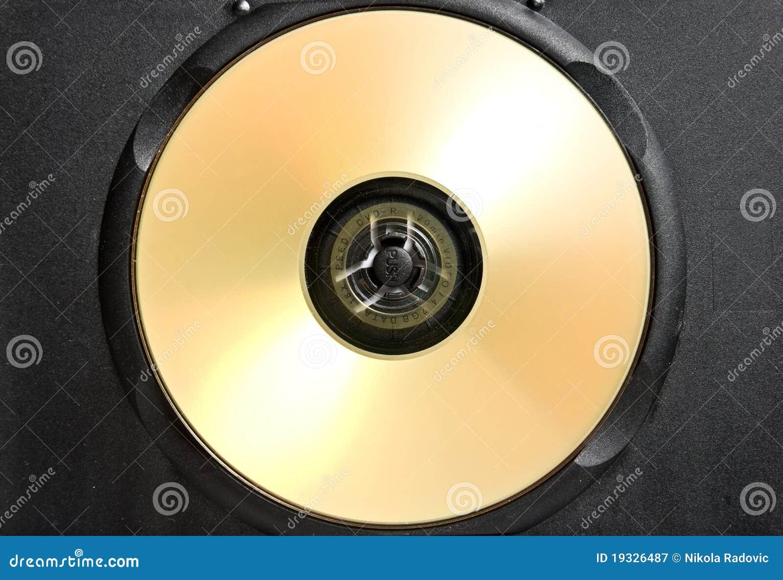 Czarny skrzynka cd złoto