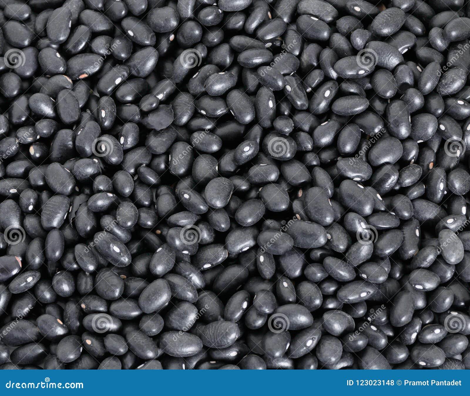 Czarnych fasoli stos dla tła zakończenia