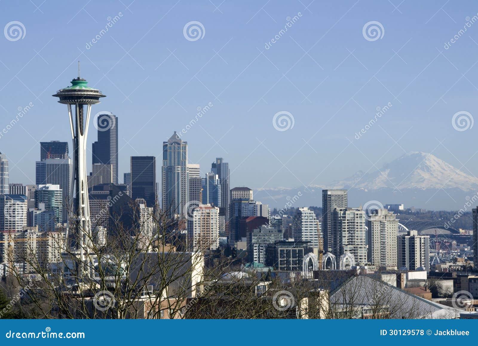 Seattle miasta linia horyzontu