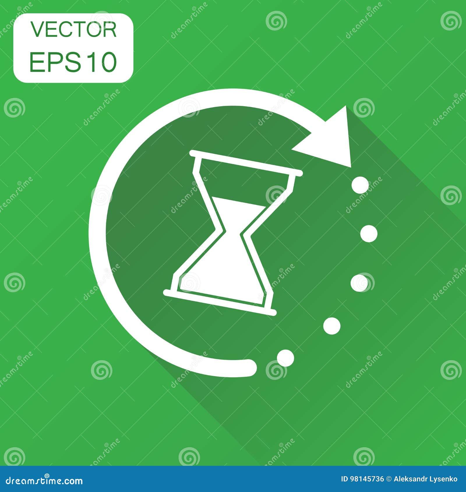 Czasów sandglass ikona Biznesowy pojęcie zegaru hourglass piktogram