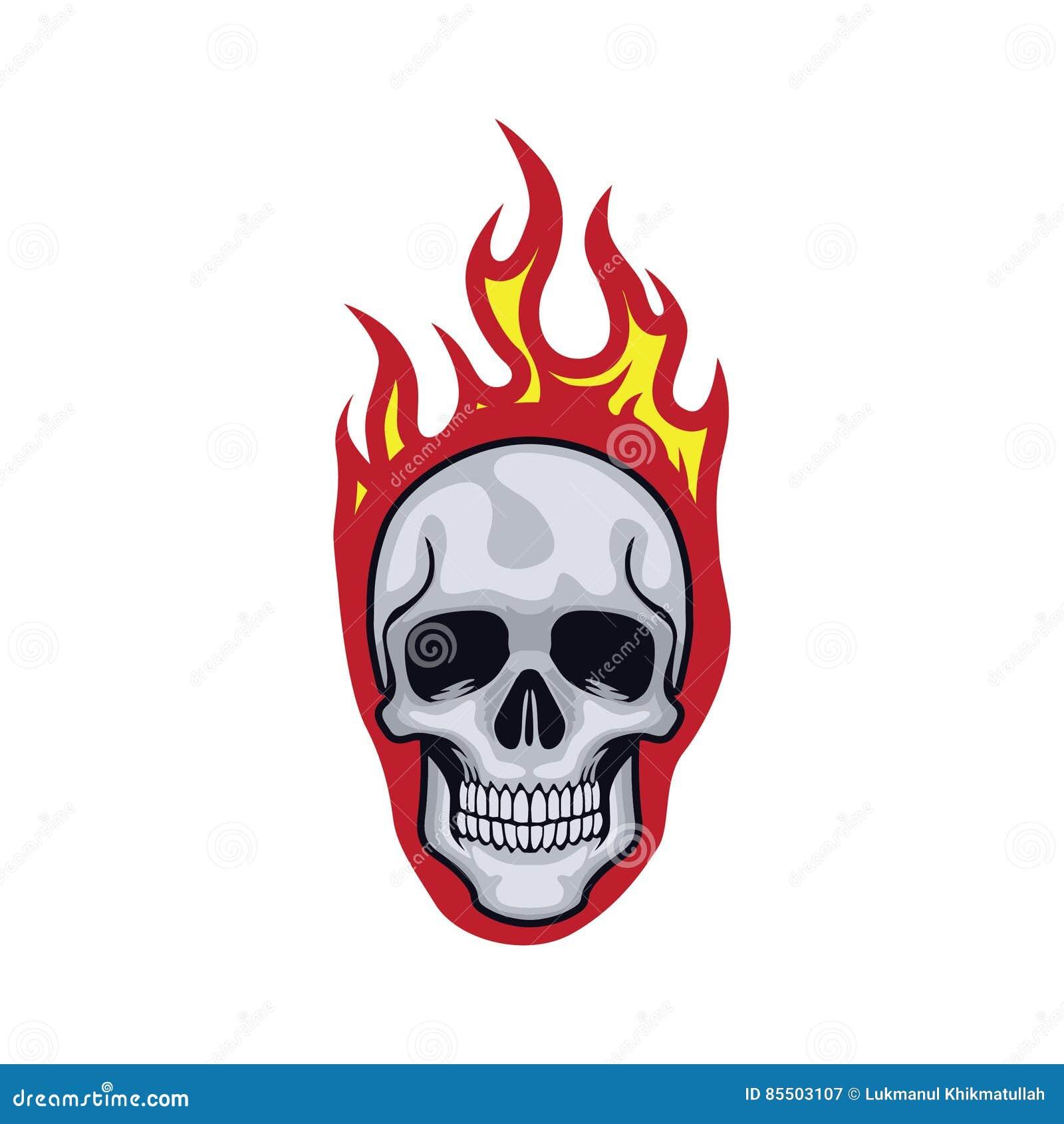 Czaszka płomienie