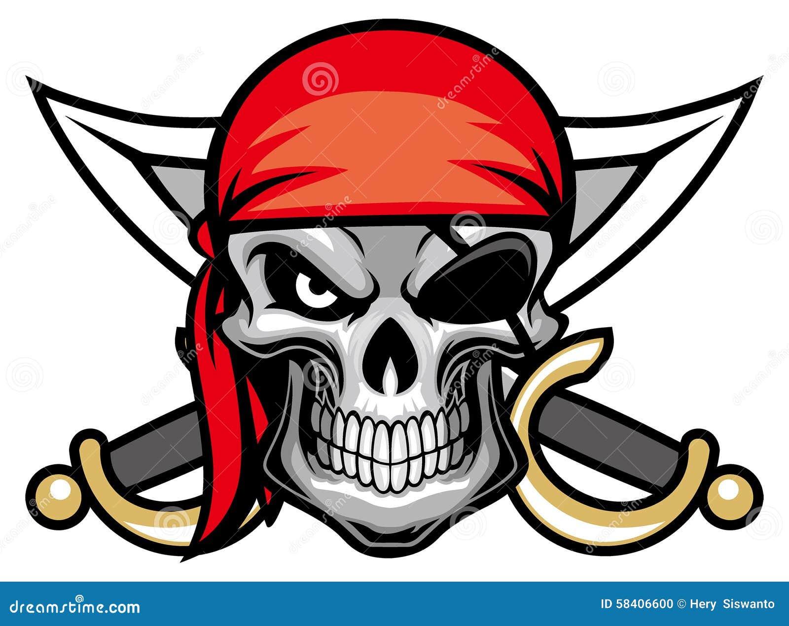 Czaszka pirata głowa