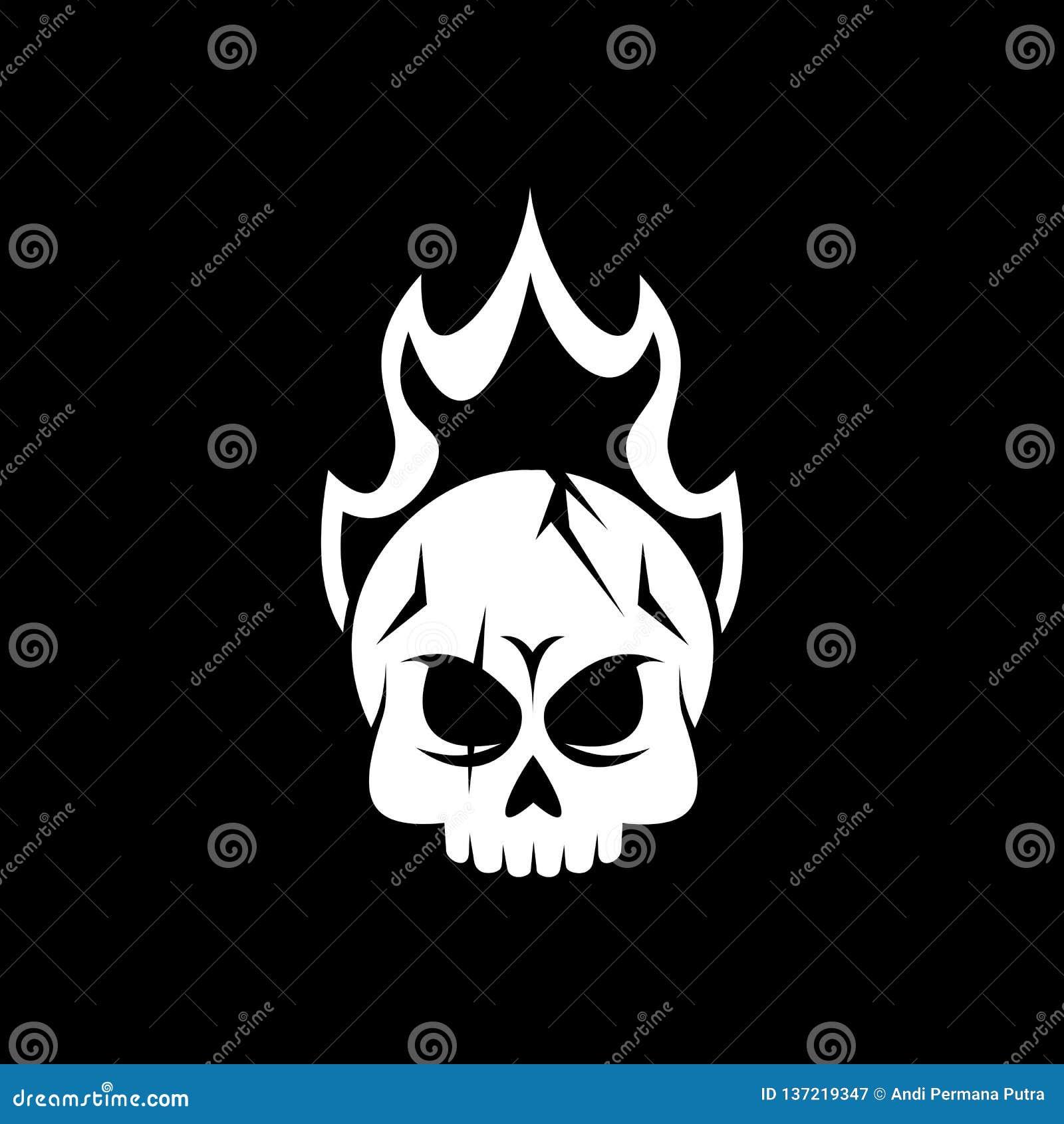 Czaszka pożarniczego logo wektorowy projekt