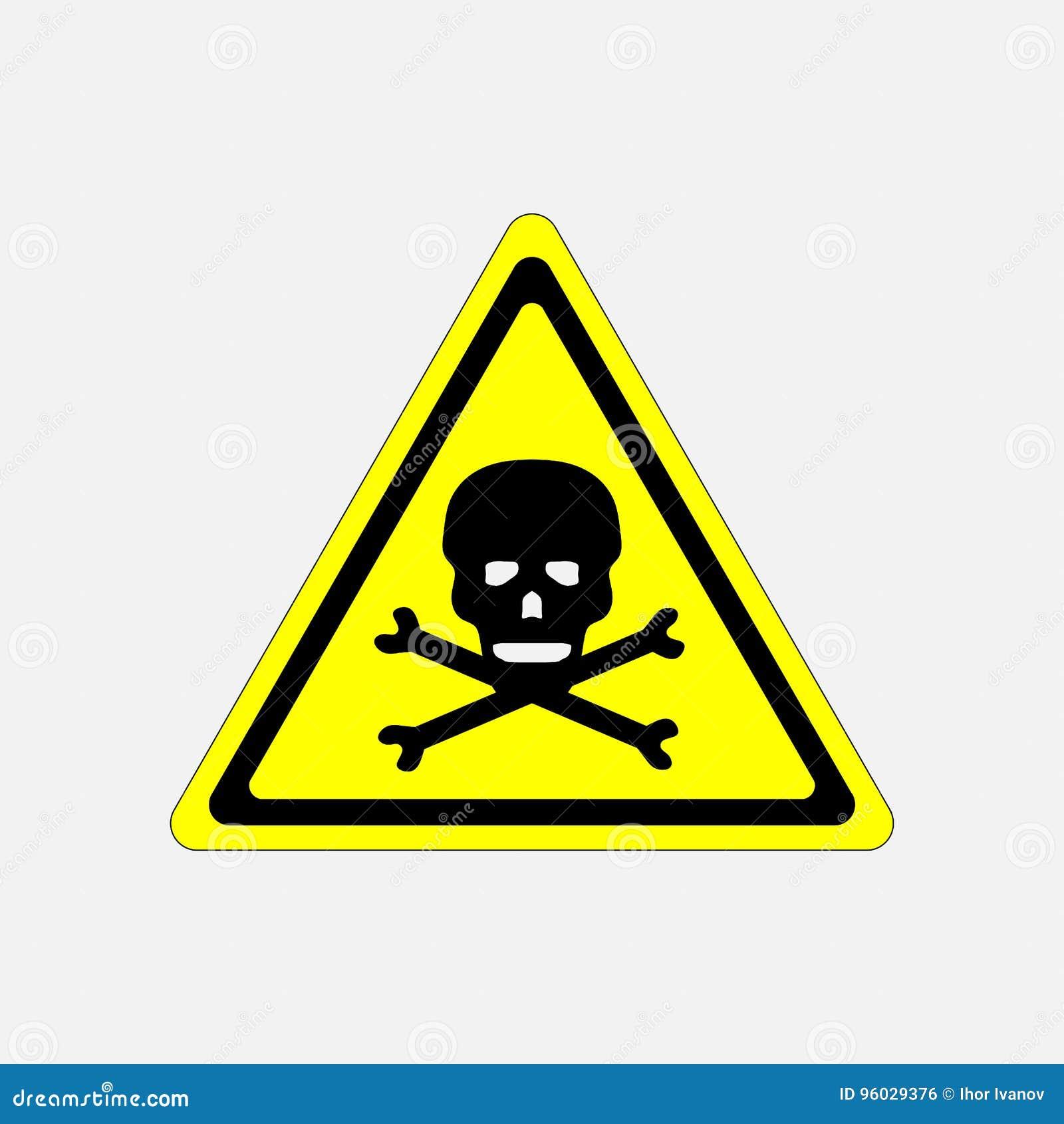 Czaszki niebezpieczeństwa znak