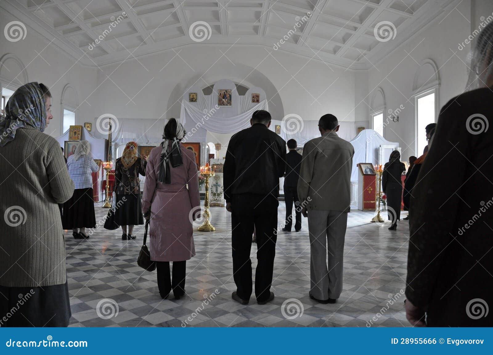 Cześć w Rosyjskim kościół w Yerevan