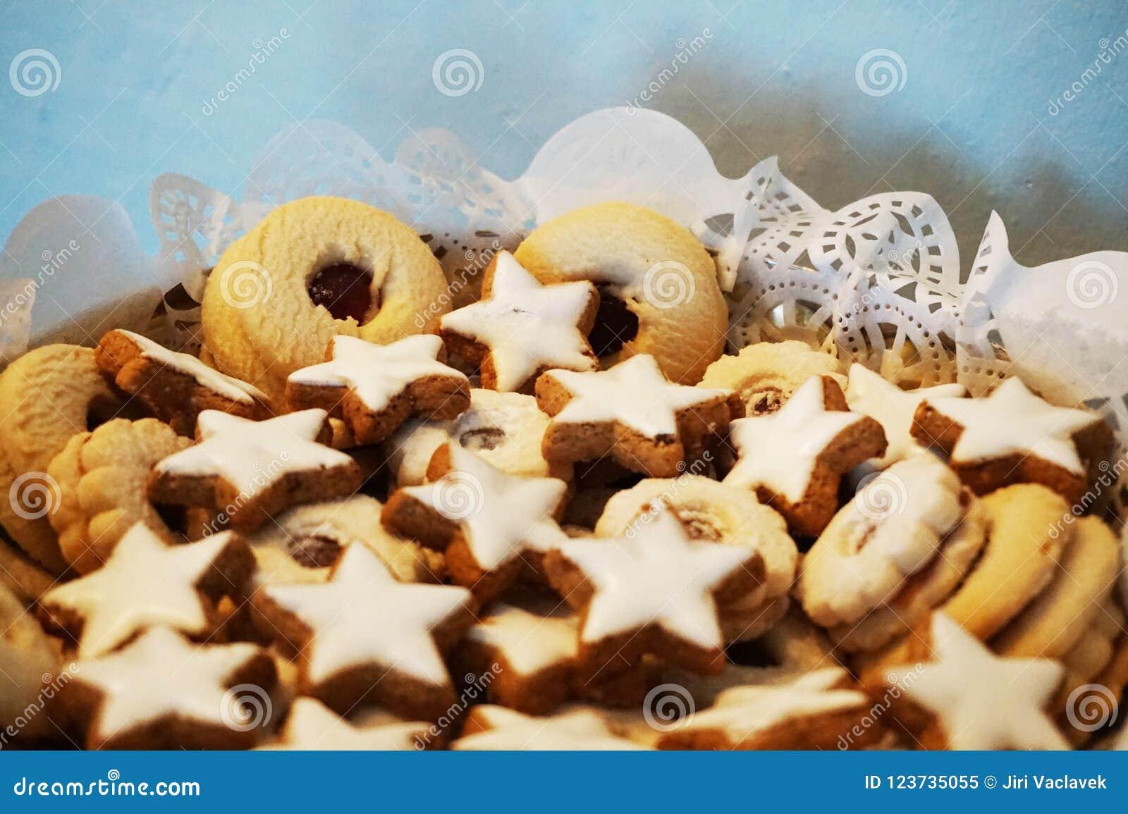 Czech Christmas Cookies Stock Image Image Of Brown 123735055