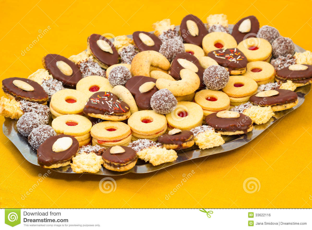 Czech Christmas Cookies Stock Photo Image Of Cake Delicious 33622116