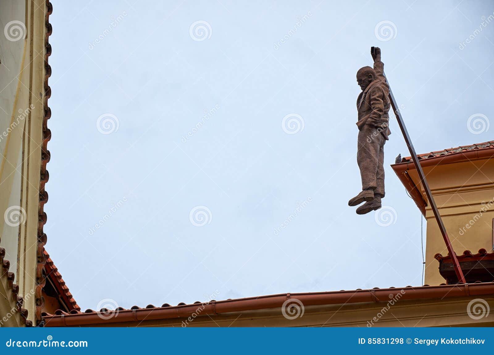 1597c25fcf0 Czech Republic. Sculpture Of David Black Hanging Seven Foot Sigmund ...