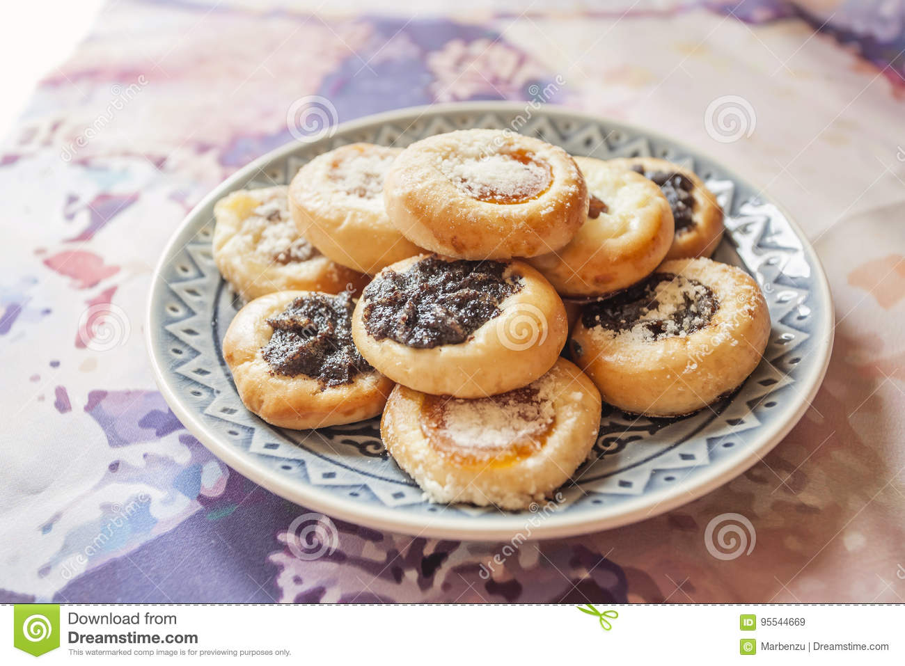 Czech Wedding Small Round Cookies Stock Image Image Of Pastry