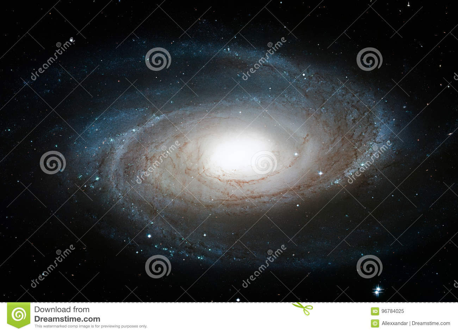 Czekająca ` s galaktyka, M81, Ślimakowaty galaxy w gwiazdozbioru Ursa Ważnym