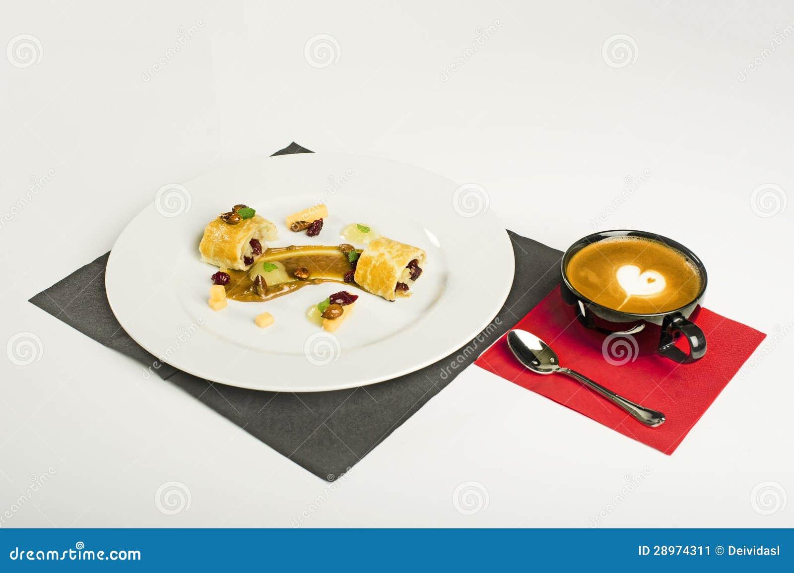 Czekolada i coffe deser