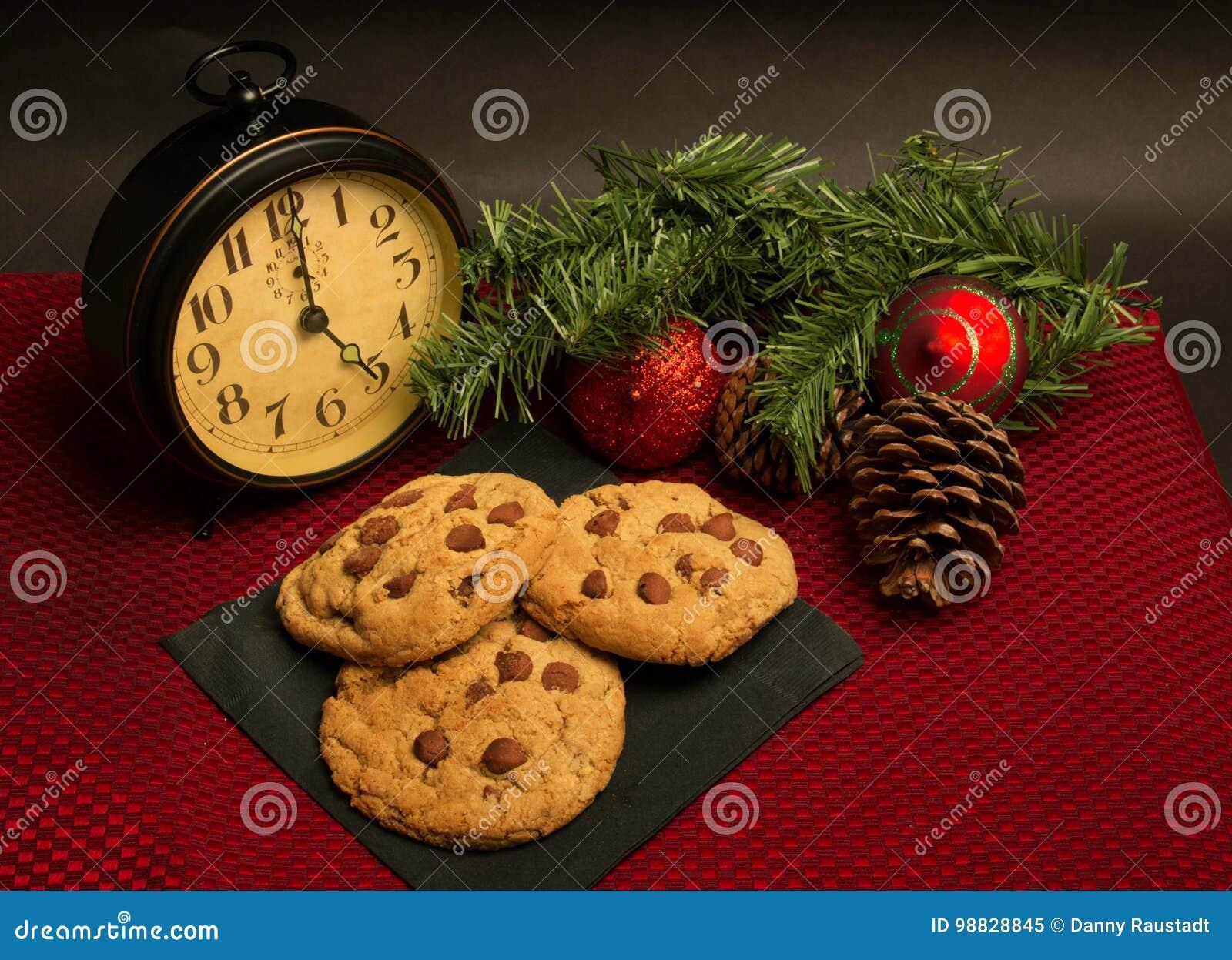 Czekoladowego układu scalonego ciastka dla Bożenarodzeniowego wakacje
